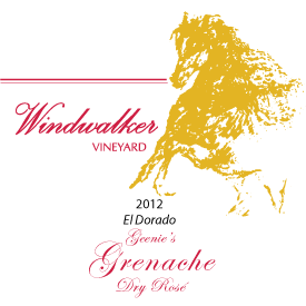 Grenach Dry Rose Label