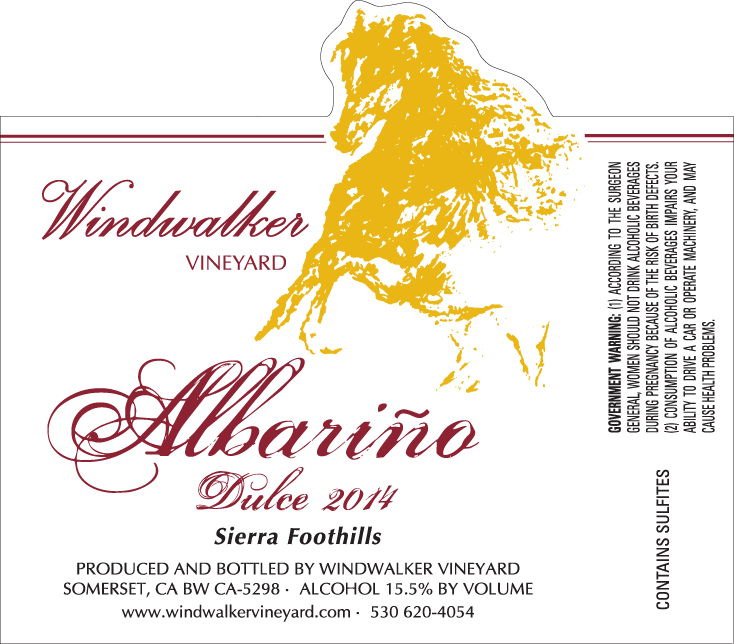 AlbarinoDulce14 Label